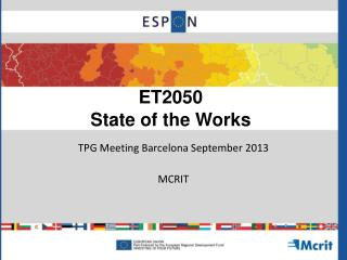 ET2050 State of the Works