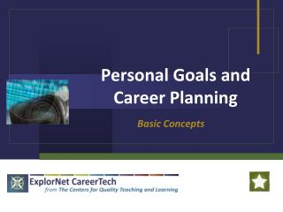 Personal Goals and Career Planning