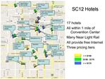 17 hotels All within 1 mile of Convention Center Many Near Light Rail All provide free Internet Three pricing tiers