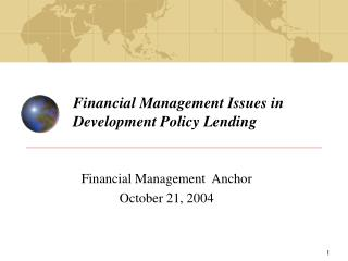 Financial Management Issues in Development Policy Lending
