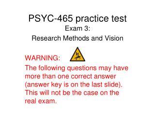 PSYC-465 practice test