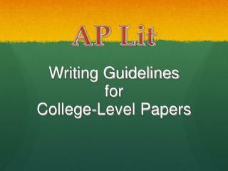 AP  Lit