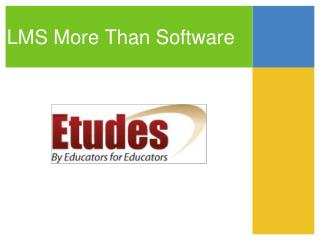 LMS More Than Software