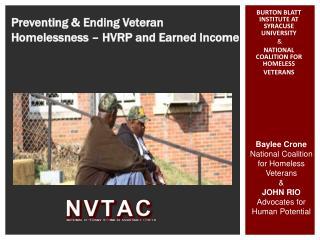Preventing  Ending Veteran Homelessness   HVRP and Earned Income