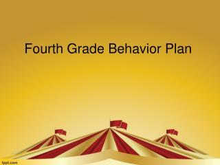 Fourth Grade Behavior Plan