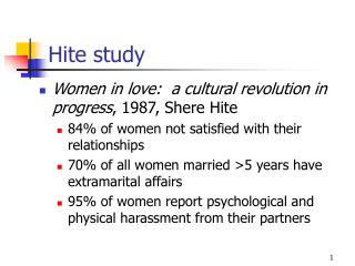 Hite study