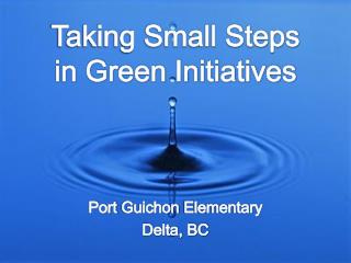 Taking Small Steps in Green Initiatives