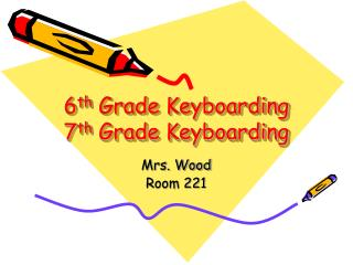 6 th  Grade Keyboarding 7 th  Grade Keyboarding
