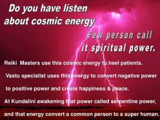 feel cosmic energy