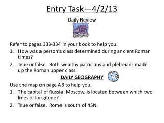 Entry  Task—4/2/13