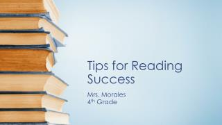 Tips for Reading Success