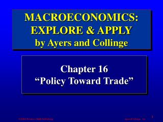 "Chapter 16 ""Policy Toward Trade"""