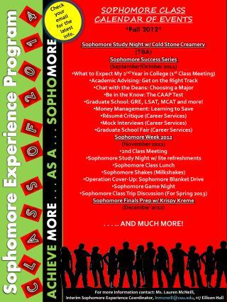 Sophomore Experience Program