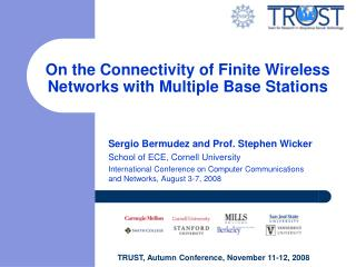 On the Connectivity of Finite Wireless Networks with Multiple Base Stations