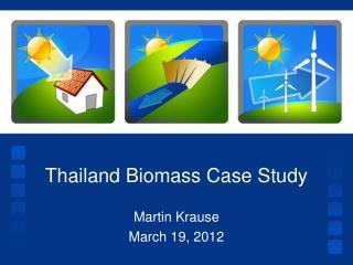 Thailand Biomass Case Study