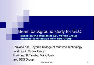 Beam background study for GLC