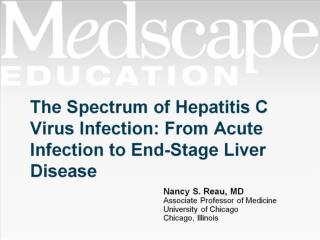 The Spectrum of Hepatitis C Virus Infection: From Acute Infection to End-Stage Liver Disease