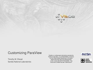 Customizing ParaView
