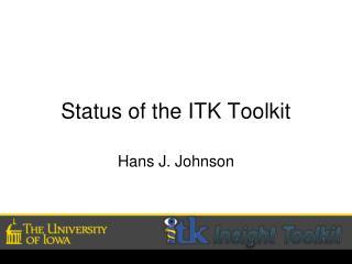 Status of the ITK Toolkit