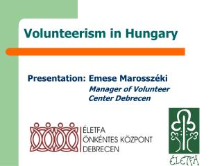 Volunteerism in Hungary