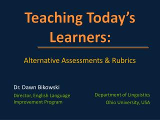 Teaching Today's Learners: