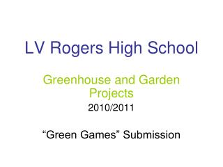 LV Rogers High School