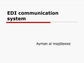 EDI communication system