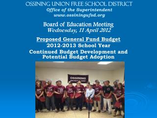 OSSINING UNION FREE SCHOOL DISTRICT Office of the Superintendent ossiningufsd