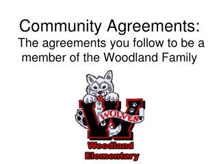 Community Agreements:  The agreements you follow to be a member of the Woodland Family