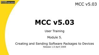 MCC v5.03
