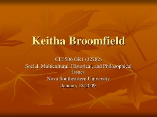 Keitha Broomfield