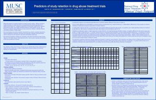 Predictors of study retention in drug abuse treatment trials