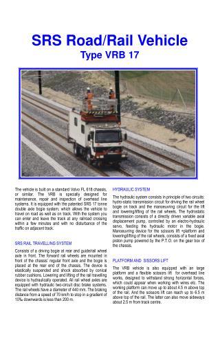 SRS Road/Rail Vehicle Type VRB 17