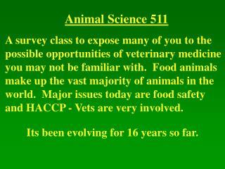 Animal Science 511