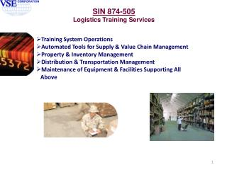 Training System Operations Automated Tools for Supply & Value Chain Management