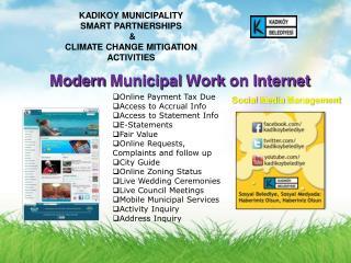 Modern  Municipal Work  on Internet