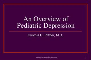 An Overview of Pediatric Depression