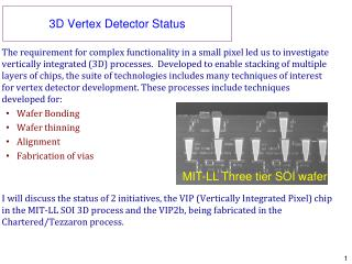 3D Vertex Detector Status