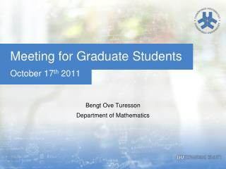 Meeting for  Graduate  Students