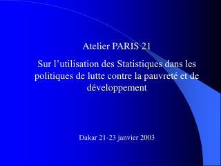 Atelier PARIS 21