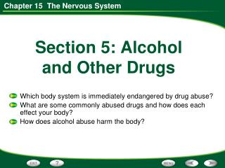 Section 5: Alcohol  and Other Drugs