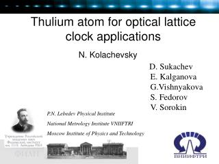 Thulium atom for optical lattice clock applications
