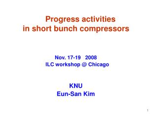Progress activities  in short bunch compressors