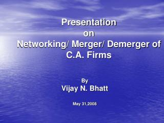 Presentation on Networking