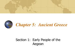 Chapter 5:  Ancient Greece