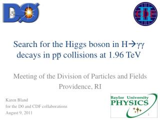 Search for the Higgs boson in H  γγ  decays in pp collisions at 1.96 TeV