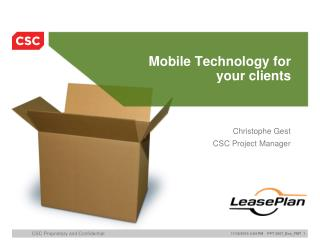 Mobile Technology for  your clients