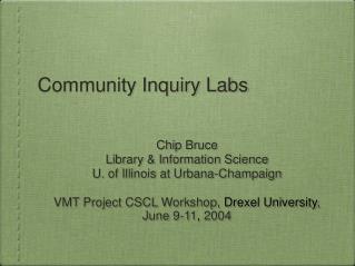 Community Inquiry Labs