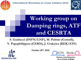 Working group on Damping rings, ATF and CESRTA