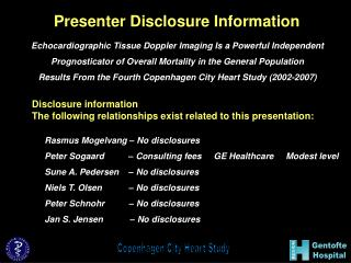 Presenter Disclosure Information